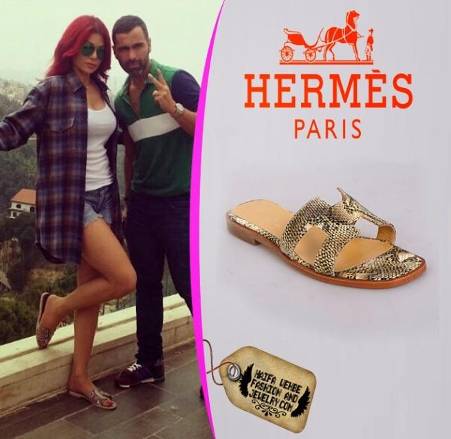 Hermes Oran H Sandal Shoes Snake Pattern Leather